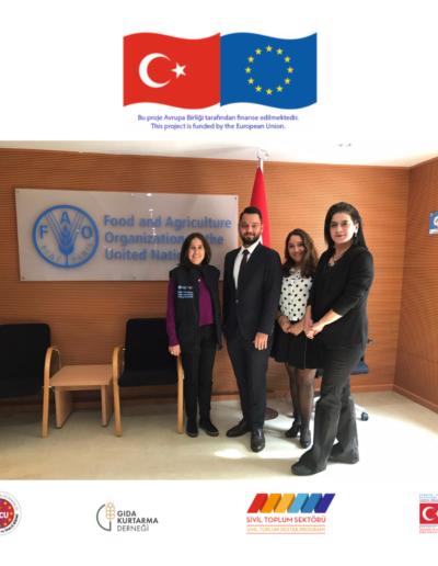 18 Ekim 2019, FAO Ziyareti